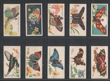 Cigarette Cards Butterflies Gril